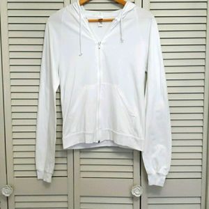 American Apparel Graphic Hoodie, White, Sz S